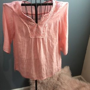 Peach Colored 3/4 Sleeve Top